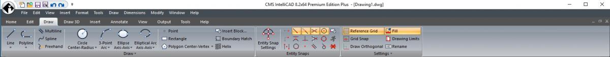 IntelliCAD Ribbon - Draw
